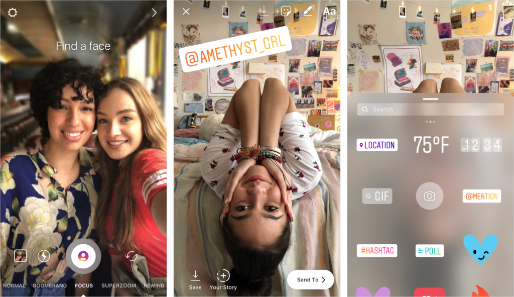 how to mention and tag in instagram stories