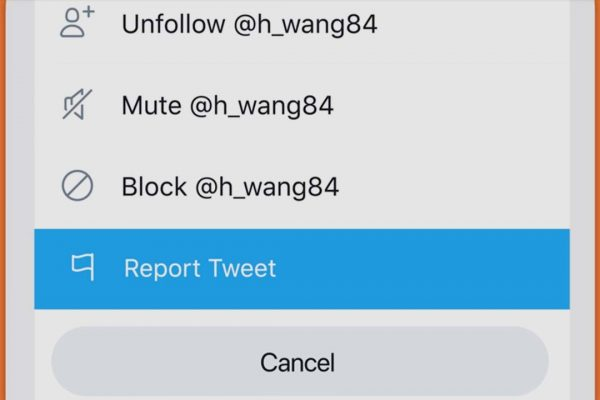 how to report someone on twitter