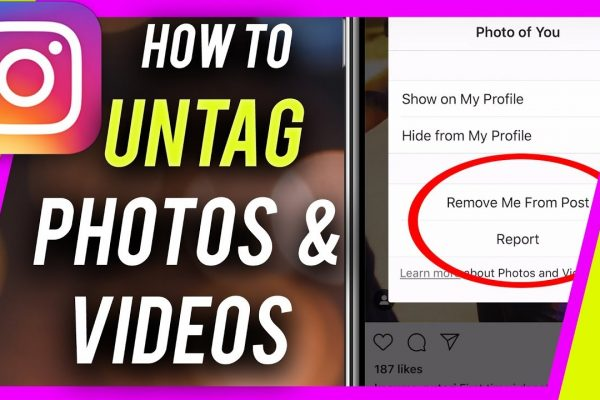 how to untag youself from instagram photo