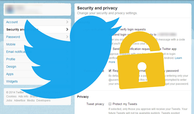 how to make your twitter profile private