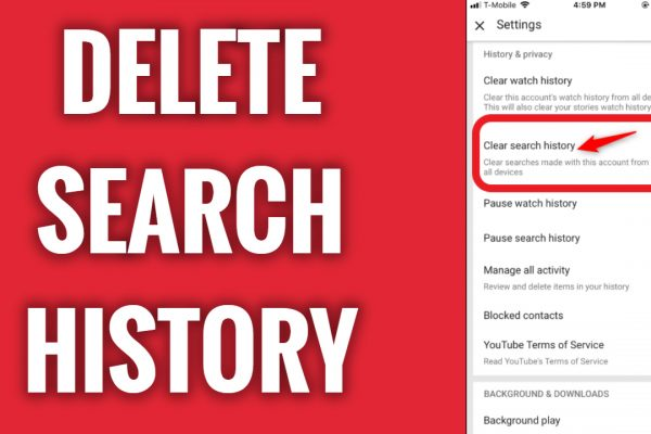 How to clear Search History on YouTube App