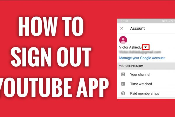 How to log out from your profile on YouTube App