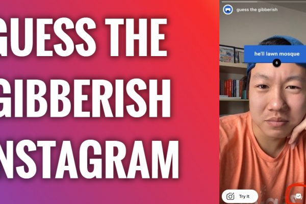 how to get guess the gibberish instagram filter