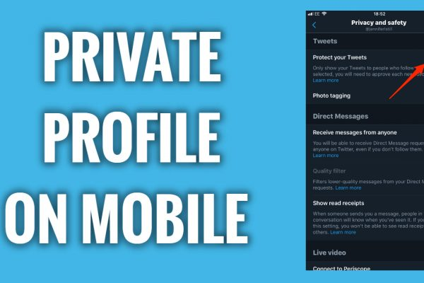 How To Make Your Twitter Profile Private on mobile