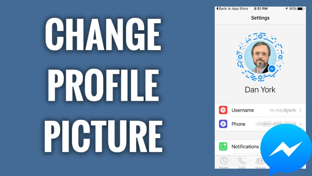 How to change profile picture on Facebook Messenger