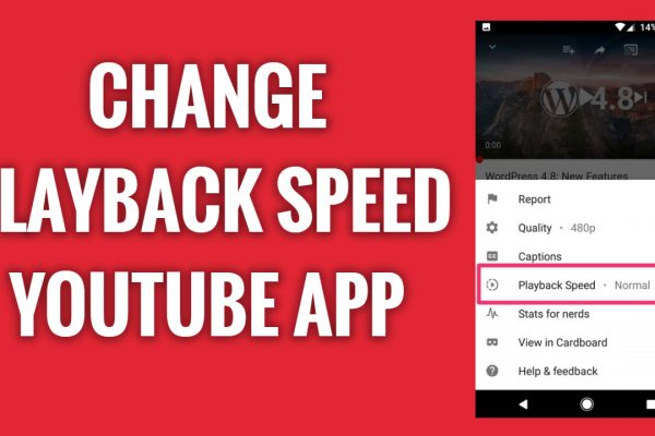 How to change video playback speed on YouTube App