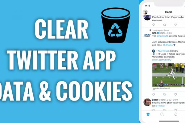 How to clear Twitter App data & Cookies