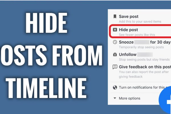 How to hide posts from timeline on Facebook App
