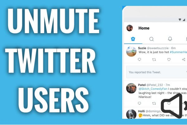 How to unmute Users on Twitter app