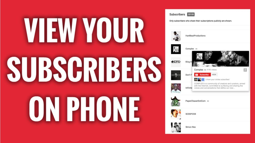 How to check who is subscribed to your YouTube channel on mobile
