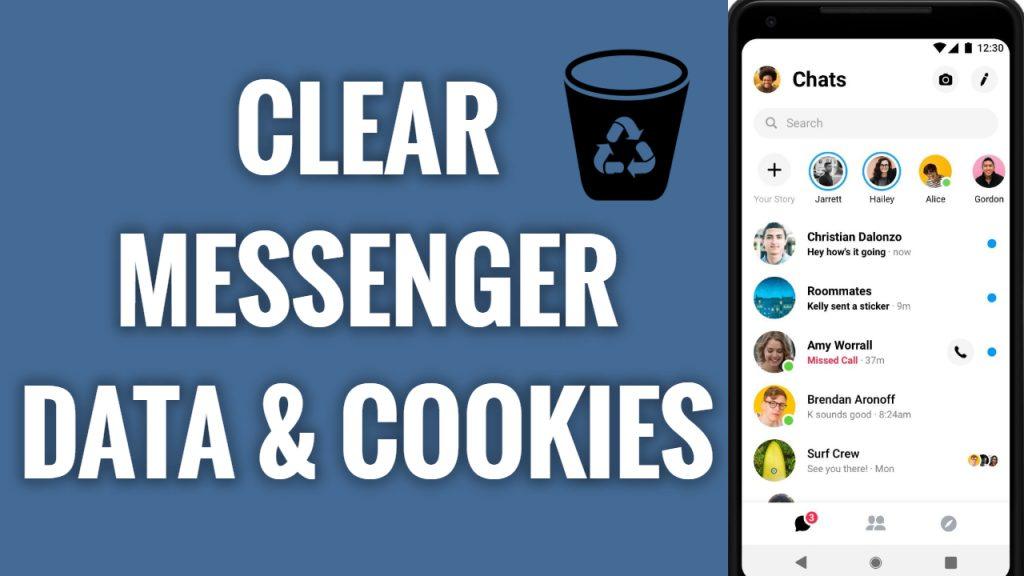 How to delete Facebook Messenger App data & cookies