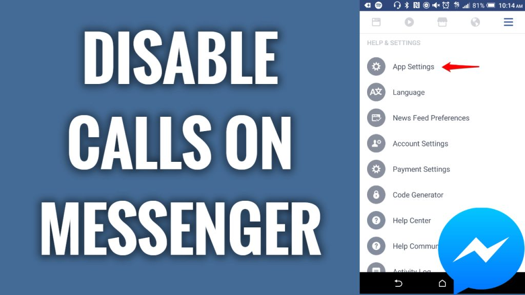 How to disable calls on Facebook Messenger