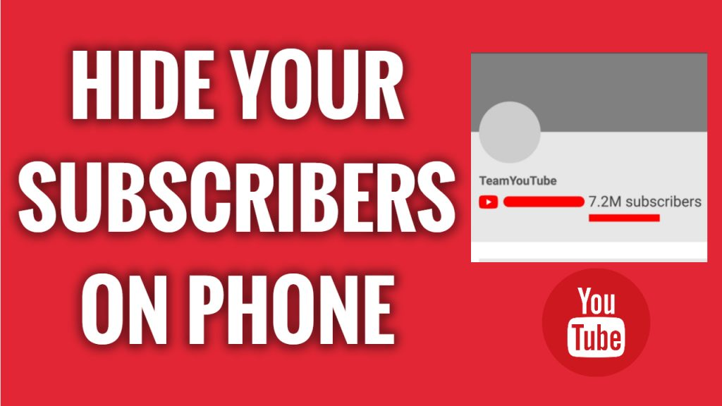 How to hide your YouTube channel subscriber count on android