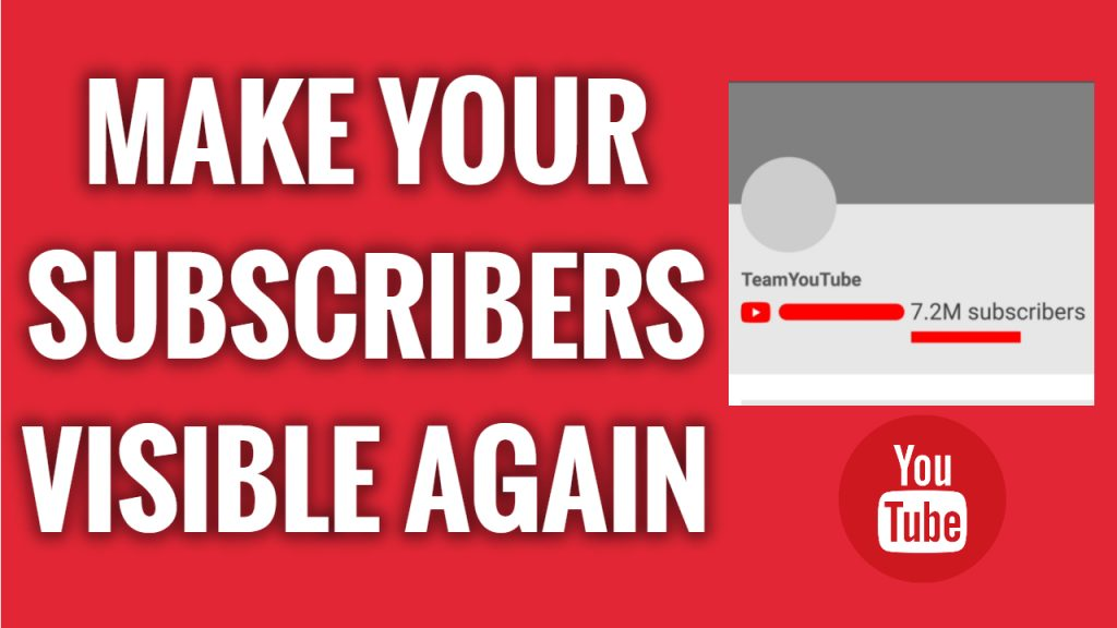 How to make your YouTube channel subscriber count visible again on mobile