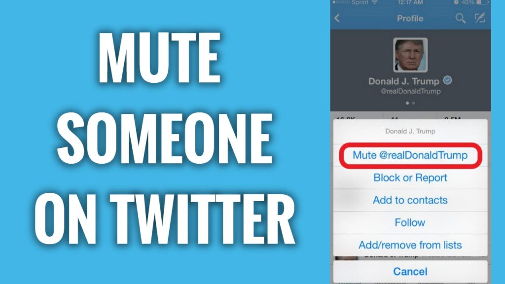 How to mute someone on Twitter App