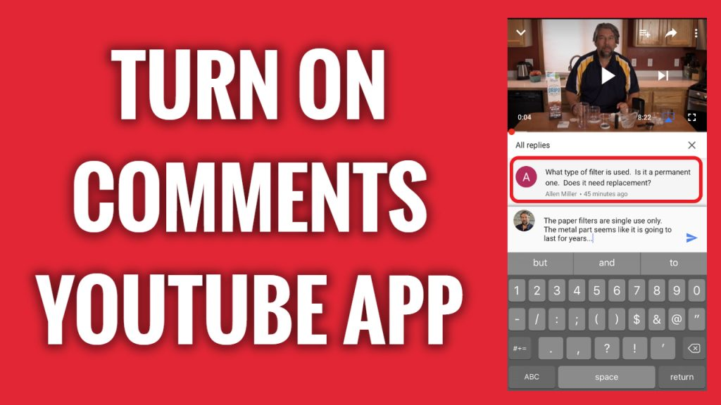How to turn on comments on videos on YouTube App