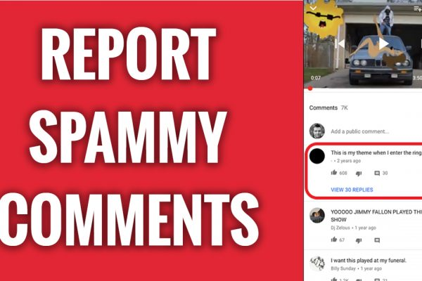 How To Report Spammy YouTube Comments