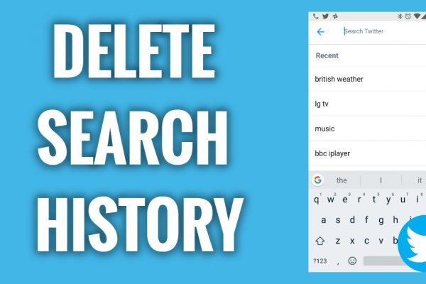 How to Delete Twitter Search History on mobile