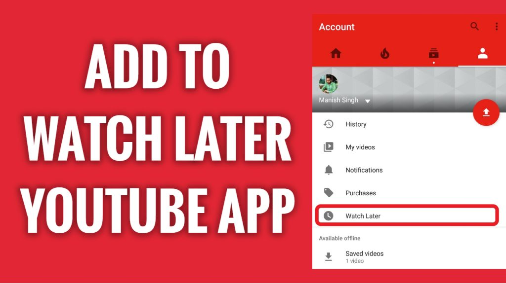 How to add video to watch later on YouTube App