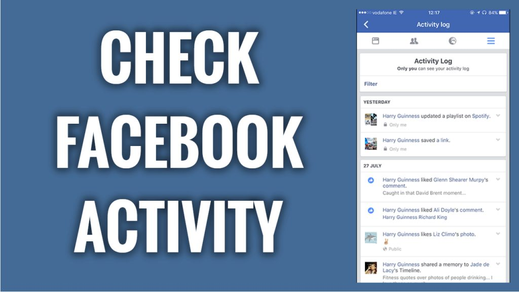 How to check your activity on Facebook App