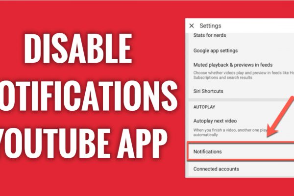 How to disable Notifications on YouTube app