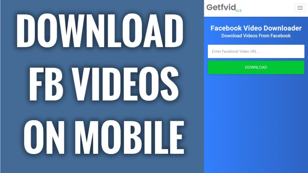 How to download videos from Facebook on mobile