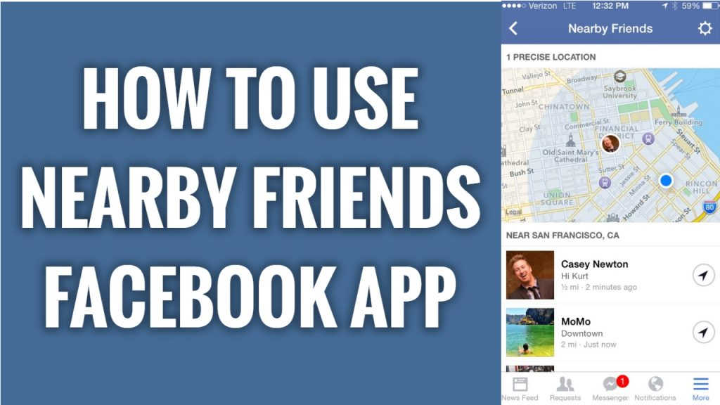 How to use Nearby friends feature on Facebook app