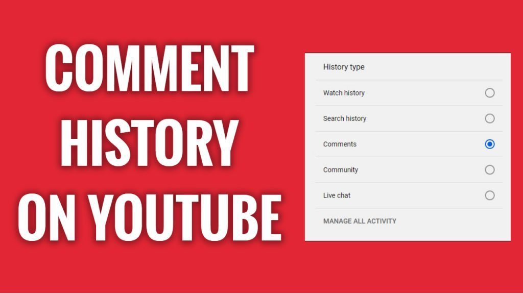 How to view your YouTube comment history