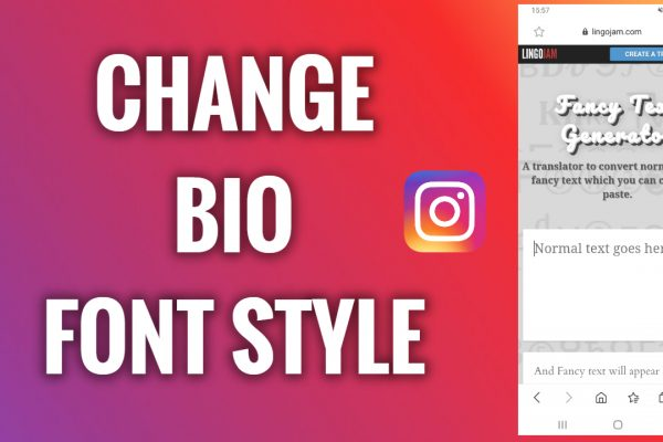 How to change a font style in Instagram bio