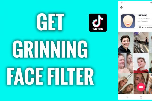 How to get the grinning face filter on TikTok