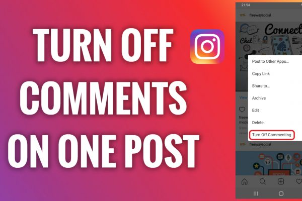 How to turn off comments on one Instagram post
