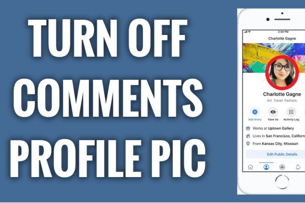 How to turn off comments on your Facebook profile picture