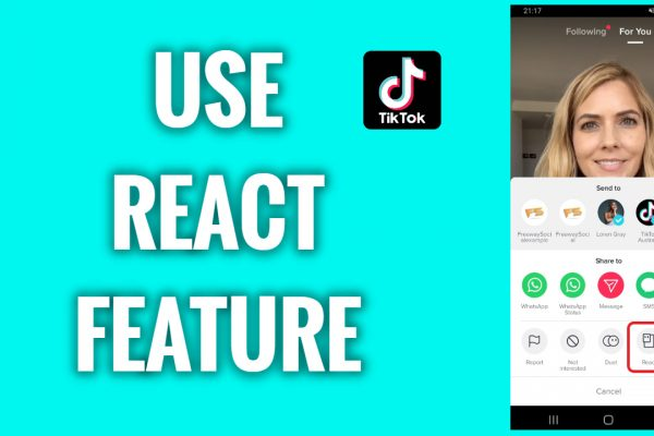 How to use react feature on TikTok