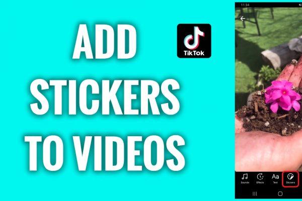 How to add stickers to TikTok videos