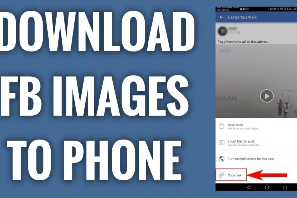 How to download images from Facebook to your phone