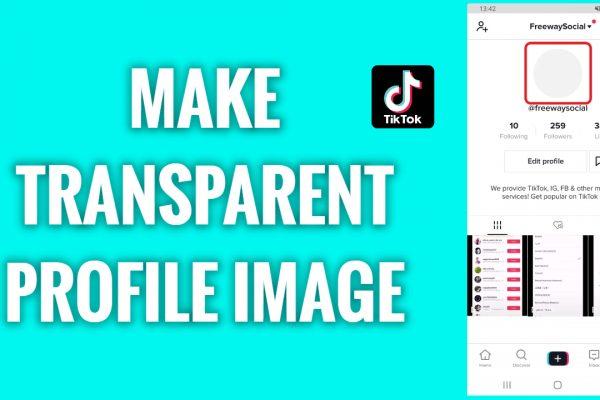 How to make a transparent TikTok profile image