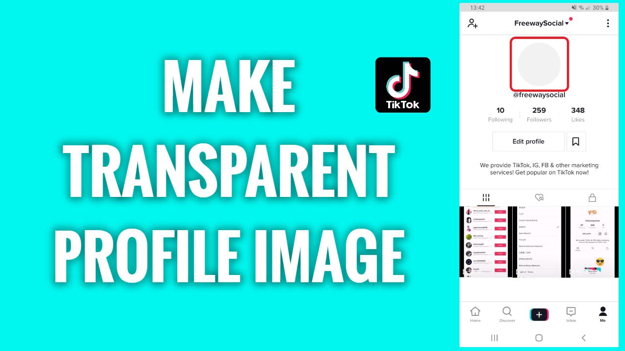 How To Make A Transparent Tiktok Profile Image Freewaysocial