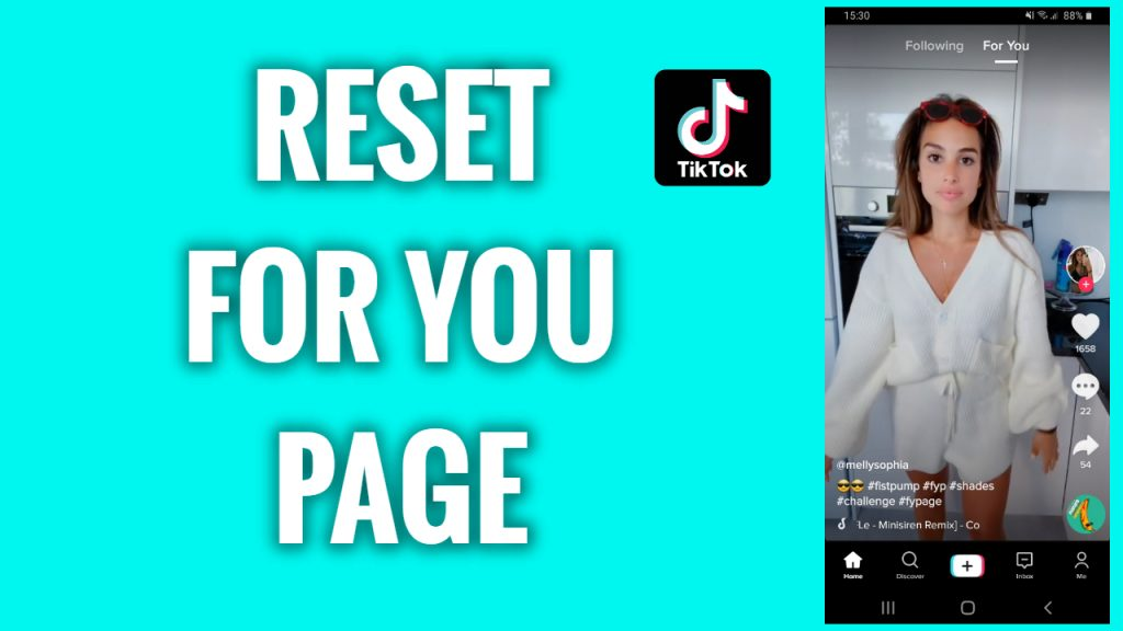How to reset TikTok For You page