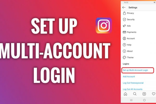 How to set up multi-account login on Instagram