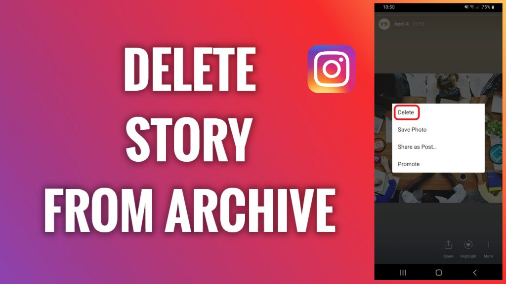 How to delete a Story from Stories archive