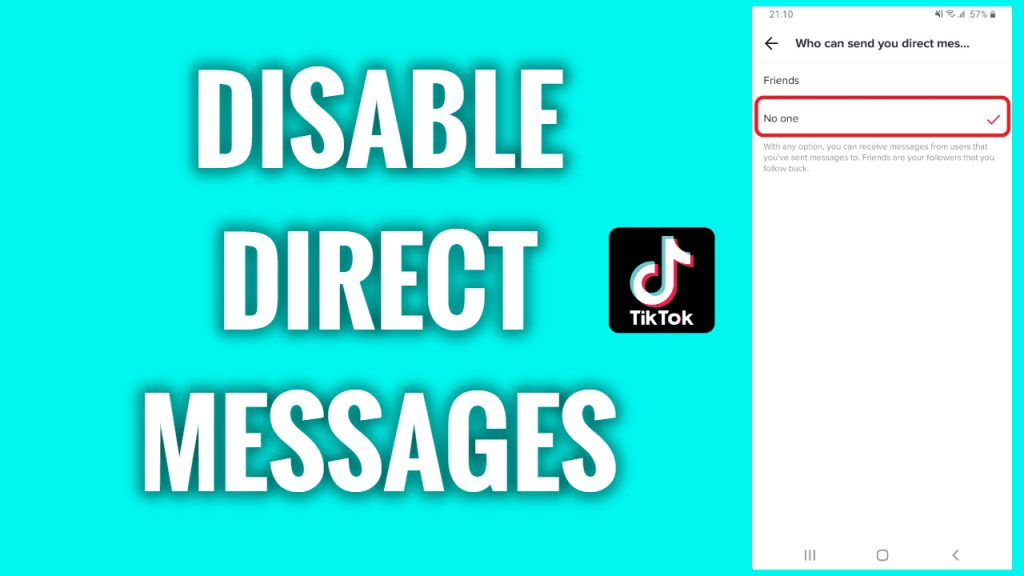 How to disable direct messages on TikTok
