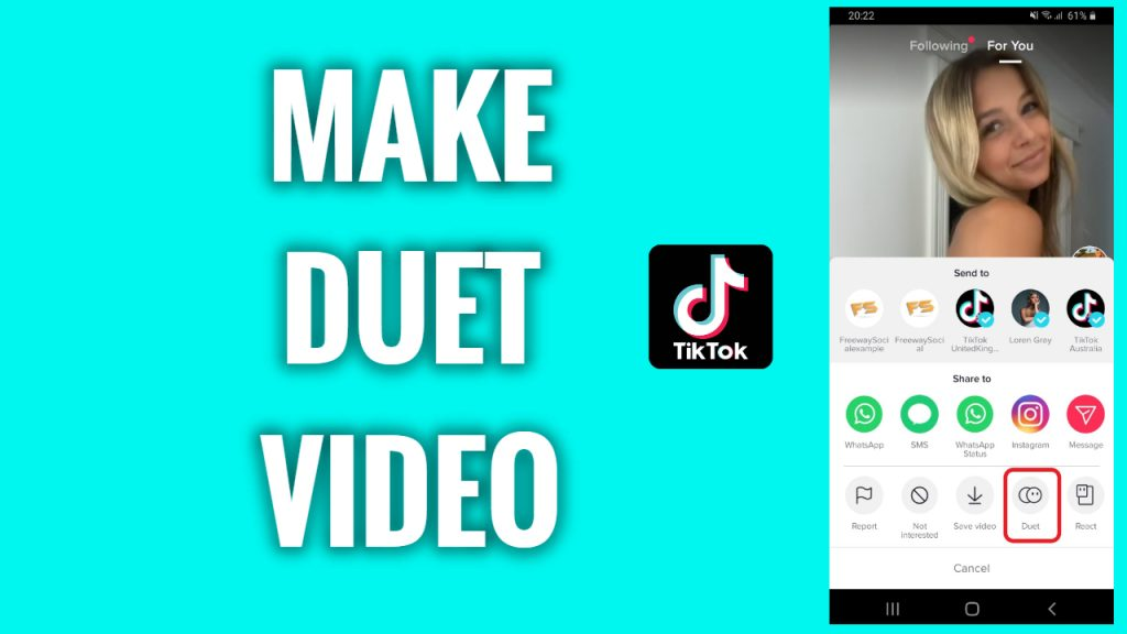 How to make a duet video on TikTok