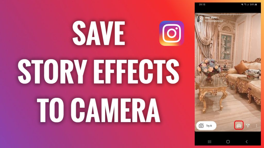 How to save Instagram Story effects to camera