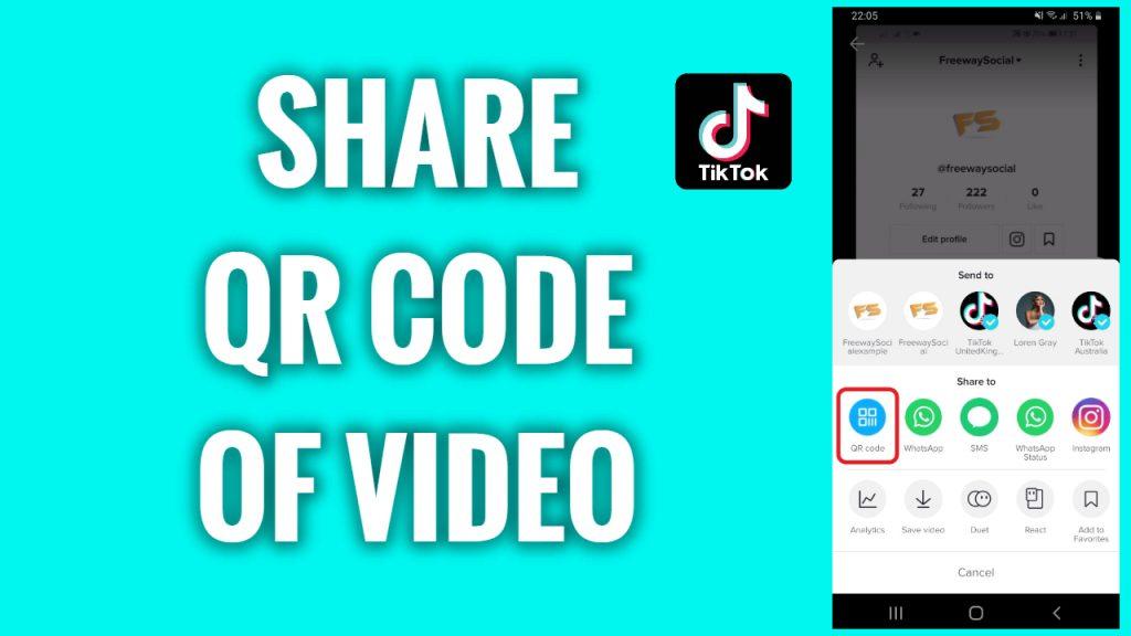 How to share QR code of a TikTok video