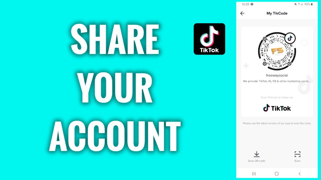 How to share your TikTok account