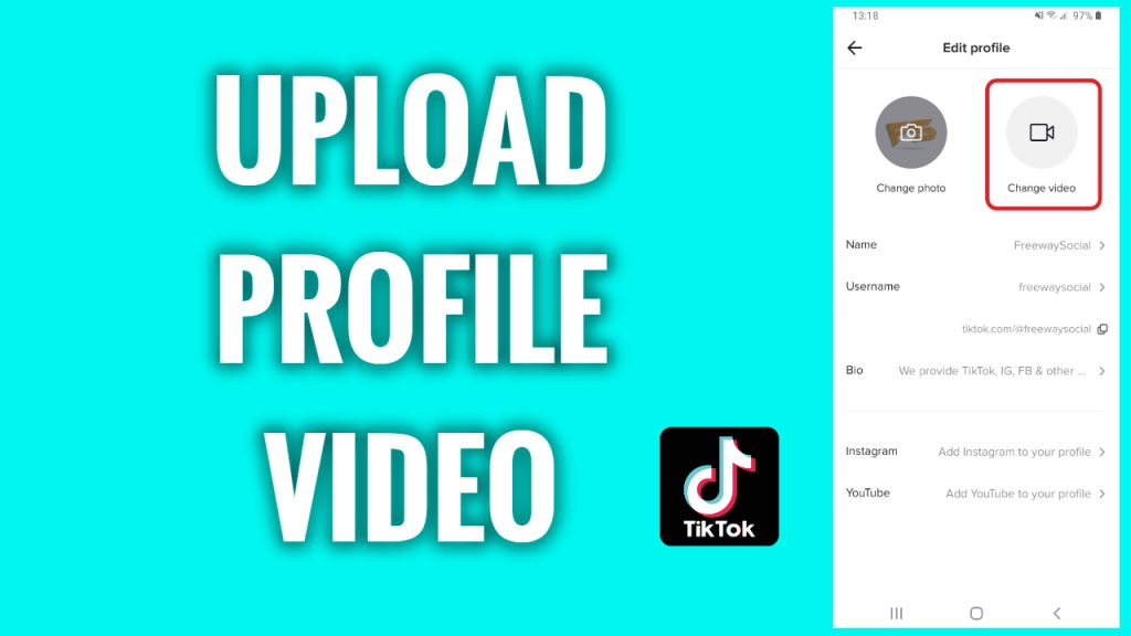 How to upload a profile video on TikTok