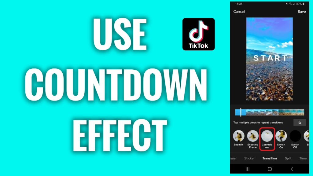How to use a countdown effect on a TikTok video