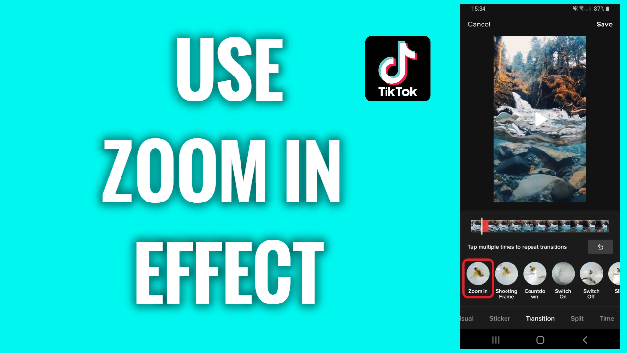 How To Use A Zoom In Effect On A Tiktok Video Freewaysocial
