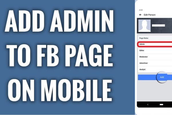How to add admin to your Facebook page on mobile