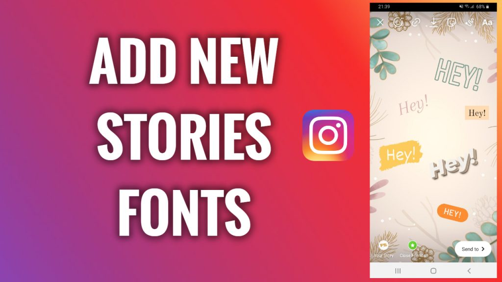 How to add new stylish Instagram Stories fonts